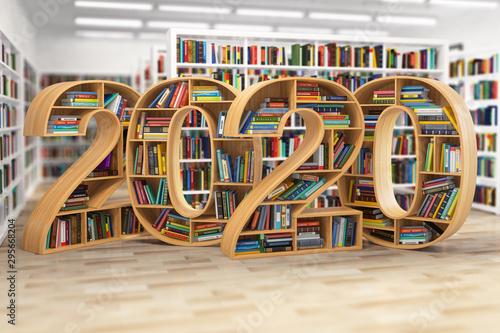 Vászonkép 2020 new year education concept