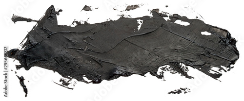 Obraz Hand drawn isolated paintbrush stripe with dirty black color eps 10 vector illustration. Template for your text. - fototapety do salonu