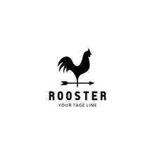 Rooster And Arrow Logo Designs Template Icon, Chicken Logo Designs