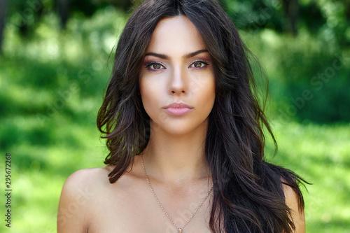 Fényképezés Beautiful woman face with perfect skin