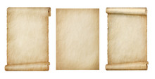 Set Of Scrolls On White Background