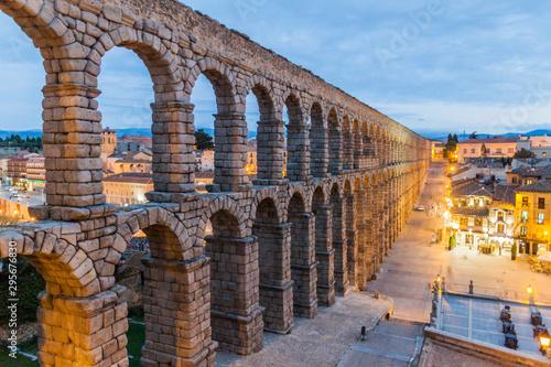 View of the Roman Aqueduct in Segovia, Spain Wallpaper Mural
