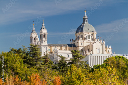 Catedral de la Almudena cathedral in Madrid, Spain