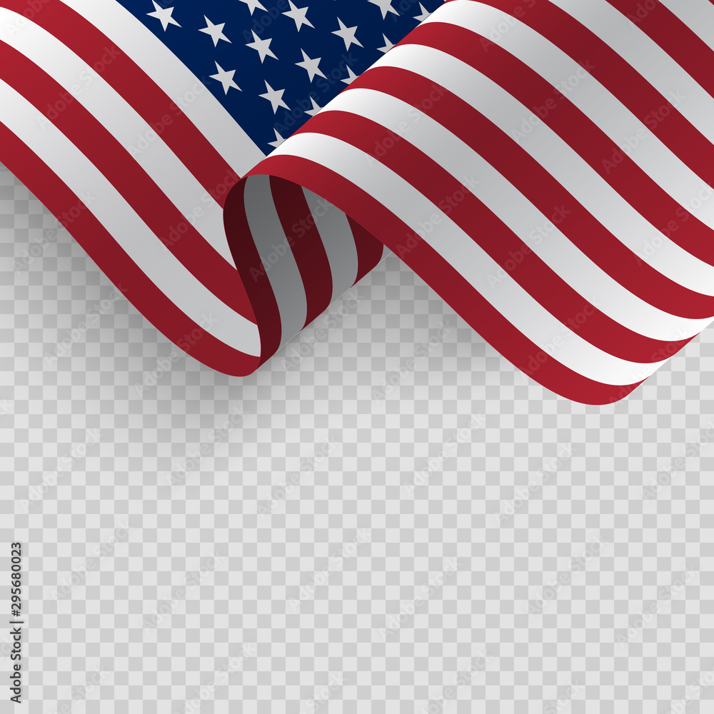 Fototapety, obrazy: Waving flag of the United States of America.