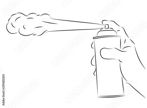 aerosol spray on hand vector illustration Canvas Print