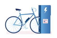 Modern Electric Bike And Charg...
