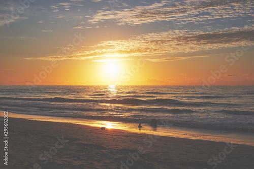 sunrise sunset on the beach