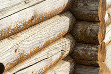 Wooden Log Corner Of The House...