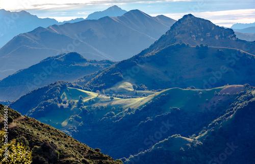 Foto auf Gartenposter Blaue Nacht Wiev from Monte Generoso Switzerland to Italy Alps