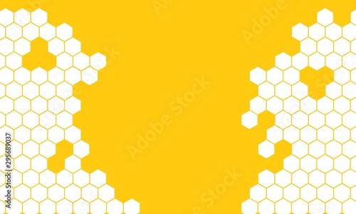 yellow honeycomb background Canvas Print