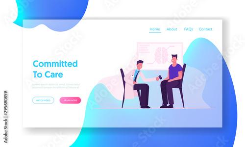 Neurological Doctor Appointment Website Landing Page Fototapete