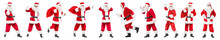 Collage With Santa Clauses On ...