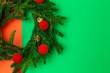 Leinwandbild Motiv Background with Christmas Decoration Composition