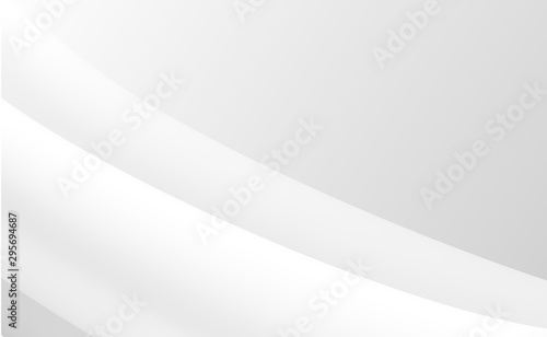 Abstract white and gray gradient color modern background design Illustration Wallpaper Mural