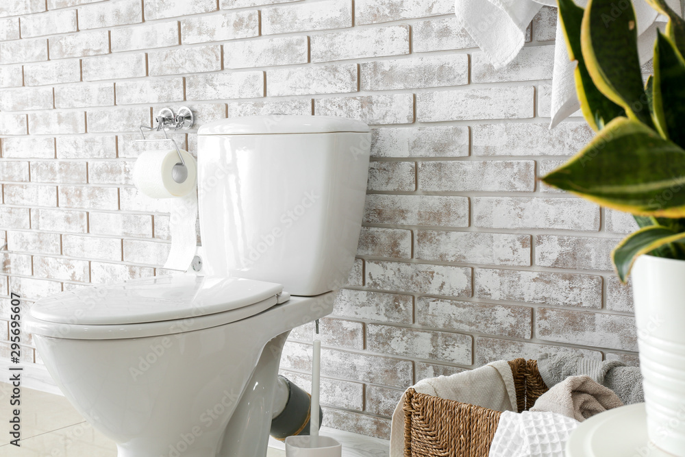 Fototapety, obrazy: Interior of light modern restroom