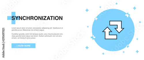 Cuadros en Lienzo  synchronization line icon