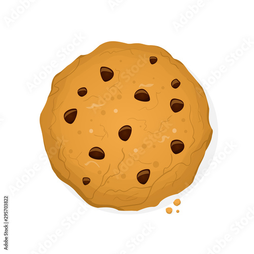 Fototapeta funny cookie vector cartoon illustration obraz