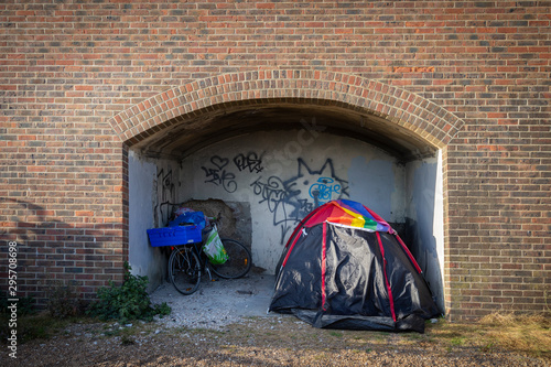 homeless tent in brighton Canvas Print