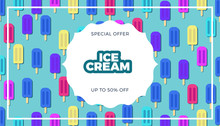 Ice Cream Vector Banner Design