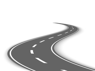 Perspective curved road template