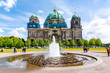 canvas print picture - Berlin Cathedral (Berliner Dom) on Museum island, Germany