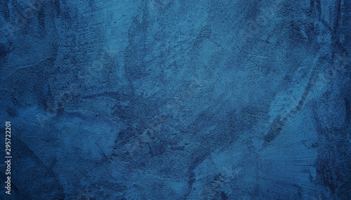 Obraz na plátně  Beautiful Abstract Grunge Decorative Navy Blue Dark Stucco Wall Background