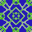 canvas print picture - Cross stitch- abstract embroidery pattern