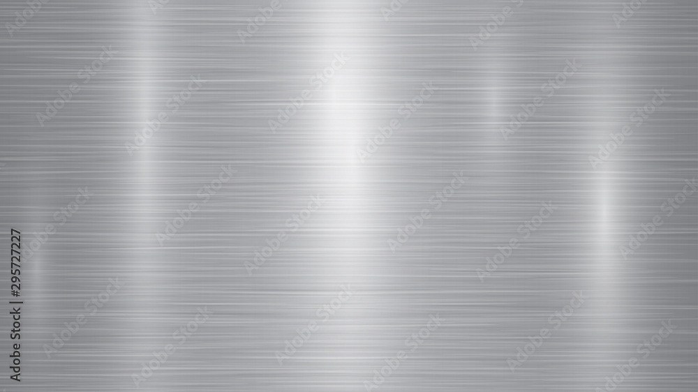 Fototapety, obrazy: Abstract metal background with glares in gray colors