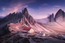 Mountains With Beautiful House...