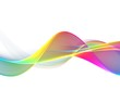Leinwanddruck Bild Awesome colorful wave abstract background