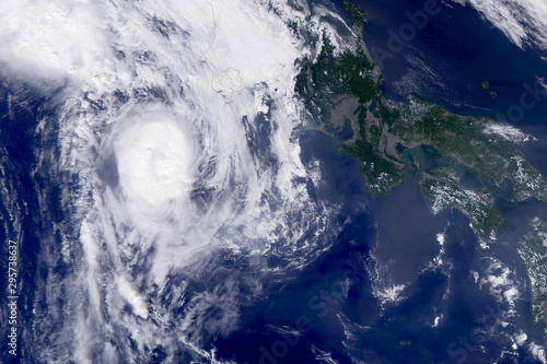 Fototapety, obrazy: A huge tornado, a cyclone from space.