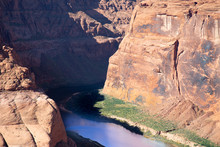 Scenic Horseshoe Bend Canyon Overlooking Colorado River In Arizona, USA