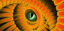 Orange Infrared Dragon Eye Retro State Of Mind Dmt