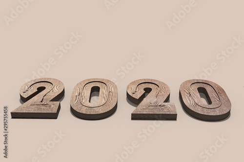 3D render of rough natural fibre textured protruding solid numbers forming the y Tablou Canvas