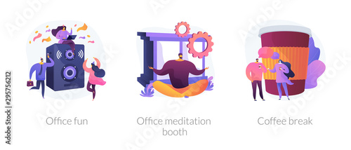 Fotografia Stress relief web icons cartoon set
