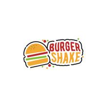 Shake Burger Logo, Creative Menu For A Restaurant Or Food Seller