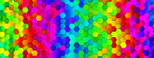 Abstract Bright And Colorful Hexagon Mosaic Wallpaper Or Background - 3d Render