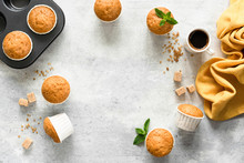 Homemade Muffins In Paper Cups...