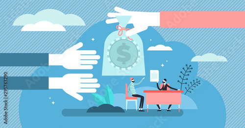 Fotografiet Lending money vector illustration