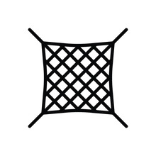 Black Line Icon For Net Grid