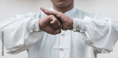 Tai Chi Chuan Master hands, Chinese Martial Arts workout. Фотошпалери