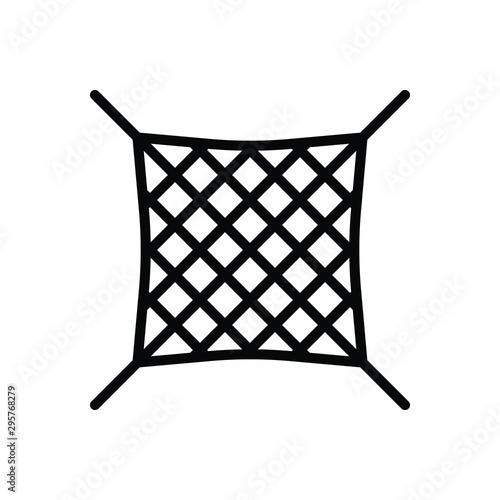 Fototapeta Black line icon for net grid  obraz