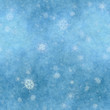 canvas print picture - snowflakes background