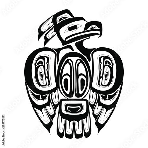 Obraz na plátně Haida thunderbird tattoo