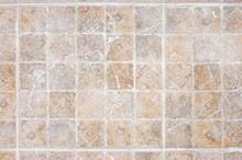Old Distressed Ceramic Tile Floor Texture