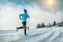 Running Woman. Runner On The S...