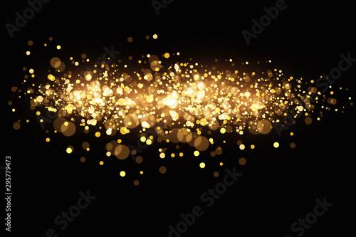 Obraz Glow light effect. Vector illustration. Christmas flash. dust - fototapety do salonu