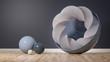 canvas print picture - Raum mit abstrakten Formen, künstlerisch