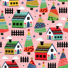 Seamless Pattern With Decorati...