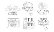 Catering Hand Drawn Retro Labe...